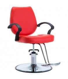 Πολυθρόνα Κουρείου Κόκκινη από Συνθετικό Δέρμα   110163