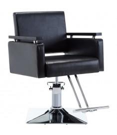 Πολυθρόνα Κουρείου Μαύρη από Συνθετικό Δέρμα  110164