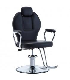 Πολυθρόνα Κουρείου Μαύρη από Συνθετικό Δέρμα  110165