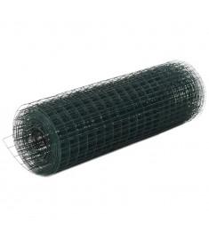 Συρματόπλεγμα Τετράγωνο Πράσινο 10x0,5 μ. Ατσάλι Επικάλυψη PVC