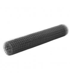 Συρματόπλεγμα Τετράγωνο Γκρι 10x1 μ. Ατσάλι με Επικάλυψη PVC