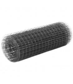 Συρματόπλεγμα Τετράγωνο Γκρι 10x0,5 μ. Ατσάλι με Επικάλυψη PVC