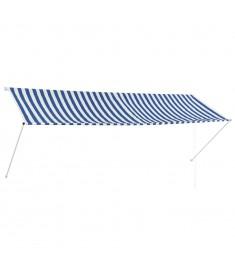 Τέντα Συρόμενη Μπλε / Λευκό 350 x 150 εκ.  143750