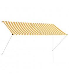 Τέντα Συρόμενη Κίτρινο / Λευκό 250 x 150 εκ.  143754
