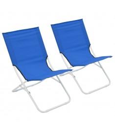 Καρέκλες Παραλίας Πτυσσόμενες 2 τεμ. Μπλε   44368