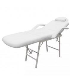 Πολυθρόνα Αισθητικής Ρυθμιζόμενη Λευκή από Συνθετικό Δέρμα   275395