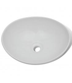 Νιπτήρας Οβάλ Λευκός 40 x 33 εκ. Κεραμικός   275396