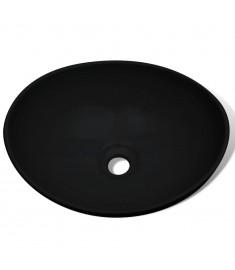 Νιπτήρας Οβάλ Μαύρος 40 x 33 εκ. Κεραμικός   275397
