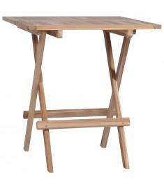 Τραπέζι Bistro Πτυσσόμενο 60 x 60 x 65 εκ. από Μασίφ Ξύλο Teak  44656