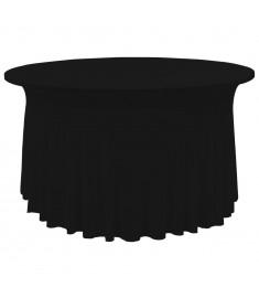 Καλύμματα / Φούστες Τραπεζιού 2 τεμ. Μαύρο 120 x 74 εκ.