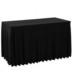 Καλύμματα / Φούστες Τραπεζιού 2 τεμ. Μαύρο 183 x 76 x 74 εκ.