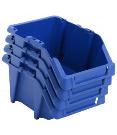 Σκαφάκια Αποθήκευσης Στοιβαζόμενα 150 τεμ. Μπλε 125x195x90 χιλ.  143771