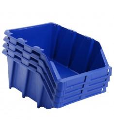Σκαφάκια Αποθήκευσης Στοιβαζόμενα 15 τεμ. Μπλε 310x490x195 χιλ.  143776
