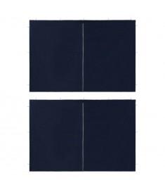 Τοιχώματα Τέντας Εκδηλώσεων 2 τεμ. Μπλε από PE με Φερμουάρ