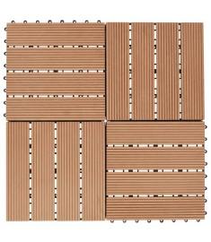 Πλακάκια Deck 11 τεμ. Χρώμα Teak 30 x 30 εκ. 1 μ² από WPC  45024