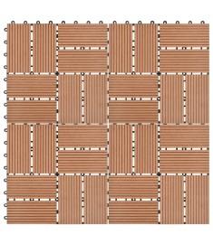 Πλακάκια Deck 11 τεμ. Καφέ 30 x 30 εκ. 1 μ² από WPC  45029