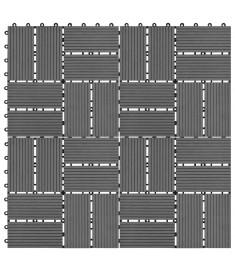 Πλακάκια Deck 11 τεμ. Γκρι 30 x 30 εκ. 1 μ² από WPC  45030