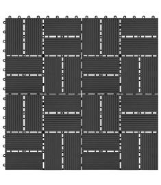 Πλακάκια Deck 11 τεμ. Μαύρα 30 x 30 εκ. 1 μ² από WPC  45031