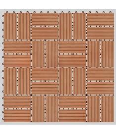 Πλακάκια Deck 11 τεμ. Χρώμα Teak 30 x 30 εκ. 1 μ² από WPC  45032