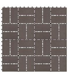 Πλακάκια Deck 11 τεμ. Σκούρο Καφέ 30 x 30 εκ. 1 μ² από WPC  45033