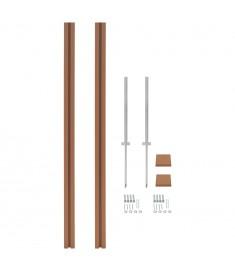 Στύλοι Περίφραξης Ανταλλακτικοί 2 τεμ. Καφέ 185 εκ. από WPC   45041