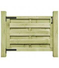 Πόρτα Φράχτη Πράσινη 100 x 75 εκ. Εμποτισμένο Ξύλο Πεύκου FSC   45314