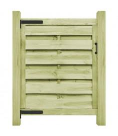 Πόρτα Φράχτη Πράσινη 100 x 100 εκ. Εμποτισμένο Ξύλο Πεύκου FSC   45315