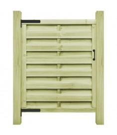 Πόρτα Φράχτη Πράσινη 100 x 125 εκ. Εμποτισμένο Ξύλο Πεύκου FSC   45316