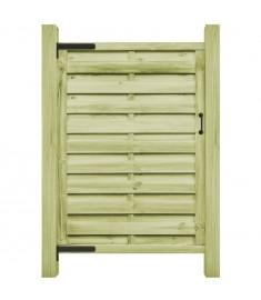 Πόρτα Φράχτη Πράσινη 100 x 175 εκ. Εμποτισμένο Ξύλο Πεύκου FSC   45318