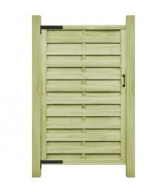 Πόρτα Φράχτη Πράσινη 100 x 200 εκ. Εμποτισμένο Ξύλο Πεύκου FSC   45319