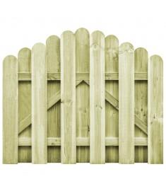 Πόρτα Φράχτη Καμπυλωτή 100x75 εκ. Εμποτισμένο Ξύλο Πεύκου FSC  45326
