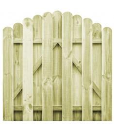 Πόρτα Φράχτη Καμπυλωτή 100x100 εκ. Εμποτισμένο Ξύλο Πεύκου FSC   45327