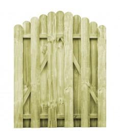 Πόρτα Φράχτη Καμπυλωτή 100x125 εκ. Εμποτισμένο Ξύλο Πεύκου FSC   45328