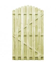Πόρτα Φράχτη Καμπυλωτή 100x175 εκ. Εμποτισμένο Ξύλο Πεύκου FSC   45330