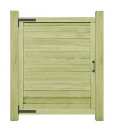 Πόρτα Φράχτη 125 x 100 εκ. από Εμποτισμένο Ξύλο Πεύκου FSC  45334
