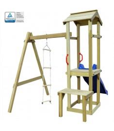 Παιδικό Σπιτάκι με Τσουλήθρα/Σκάλα 228 x 168 x 218 εκ. Ξύλο FSC   275441