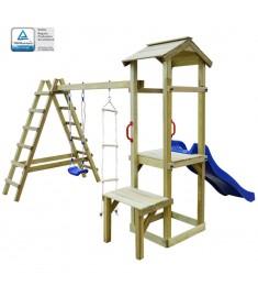 Σπιτάκι με Τσουλήθρα/Σκάλες/Κούνια 286x228x218 εκ. Ξύλο FSC   275442