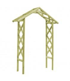 Πέργκολα Είσοδος - Αψίδα 135x45x232 εκ. Πράσινο Ξύλο Πεύκου FSC  45173