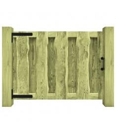 Πόρτα Φράχτη Πράσινη 100 x 75 εκ. Εμποτισμένο Ξύλο Πεύκου FSC  44927