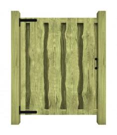 Πόρτα Φράχτη Πράσινη 100 x 125 εκ. Εμποτισμένο Ξύλο Πεύκου FSC  44929