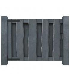 Πόρτα Φράχτη Γκρι 100 x 75 εκ. από Εμποτισμένο Ξύλο Πεύκου FSC  44933