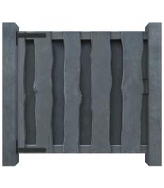 Πόρτα Φράχτη Γκρι 100 x 100 εκ. από Εμποτισμένο Ξύλο Πεύκου FSC  44934