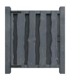 Πόρτα Φράχτη Γκρι 100 x 125 εκ. από Εμποτισμένο Ξύλο Πεύκου FSC  44935