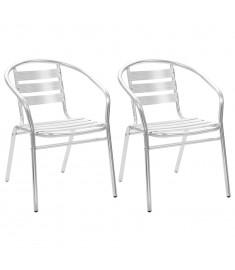 Καρέκλες Κήπου Στοιβαζόμενες 2 τεμ. από Αλουμίνιο  44791