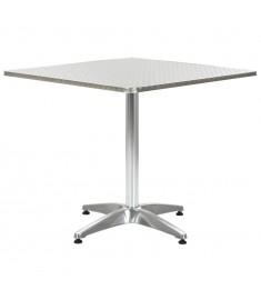 Τραπέζι Κήπου Ασημί 80 x 80 x 70 εκ. από Αλουμίνιο   44798
