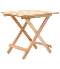 Τραπέζι Βοηθητικό Πτυσσόμενο 50x50x49 εκ. Μασίφ Ξύλο Καρυδιάς   247105