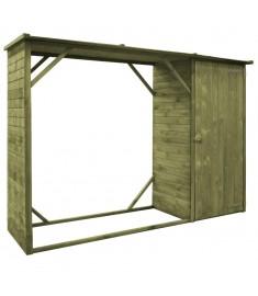 Υπόστεγο Καυσόξυλων / Αποθήκη Κήπου 253x80x170 εκ. Πεύκο FSC  45137