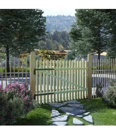 Πόρτα Φράχτη 100 x 75 εκ. από Εμποτισμένο Ξύλο Πεύκου FSC   45139