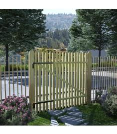 Πόρτα Φράχτη 100 x 100 εκ. από Εμποτισμένο Ξύλο Πεύκου FSC   45140