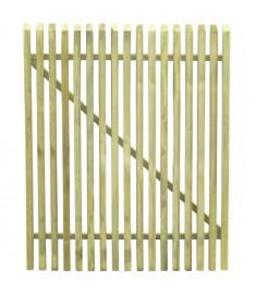 Πόρτα Φράχτη 100 x 125 εκ. από Εμποτισμένο Ξύλο Πεύκου FSC   45141